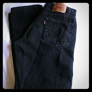 Men's 505 Levis Black Regular Fit Jeans 33x34